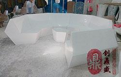 玻璃鋼菱形組合沙發座椅